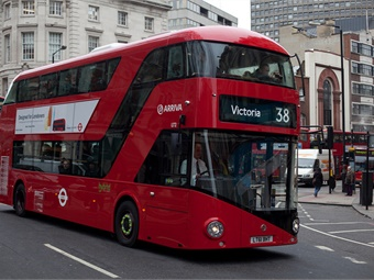 One of Transport for London's current Routemaster's from 2012.
