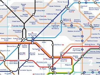 London Stations Map.Map To Help People With Claustrophobia Anxiety Navigate London Tube