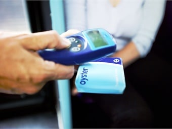 Oyster validator photo via TfL.