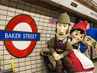Transport for London's Baker Street Tube station was taken over by gnomes to celebrate the release of the Sherlock Gnomes film. Photo: TfL