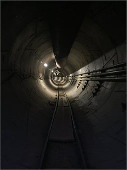 Elon Musk's Tunnel Boring Co. unveiled a proposal for a privately funded transportation system that would run underneath the Westside of Los Angeles. Photo: The Boring Co.