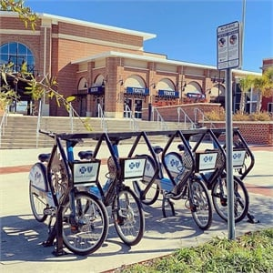 """In addition to funding the station expansion, an amount of $70,000 is allocated to Blue Bike as a pilot to provide a """"first mile, last mile"""" connection. The COMET"""