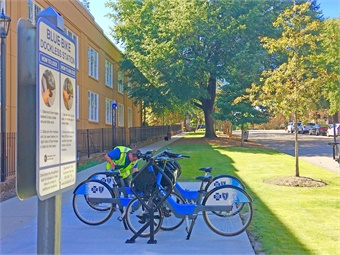 Since its start date in October 2018, Blue Bike has seen 4,033 trips and travel 7,651 miles with 144 members.