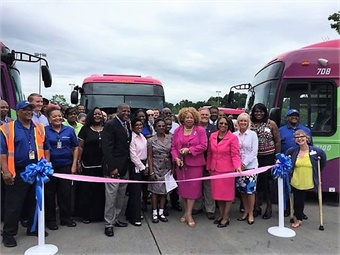 """The COMET is celebrating the 125th Anniversary of transit services in the Midlands. Last month, the agency was presented with the """"Spare the Air Award"""" by the Department of Health and Environmental Control. Photos courtesy The COMET"""
