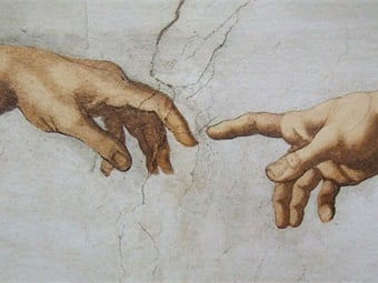 According to research, Michelangelo, painter of The Creation of Adam fresco in the Sistine Chapel (portion shown), was said to have high-functioning autism. CreativeCommons-gnuckx/PublicDomain