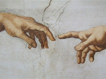 According to research, Michelangelo, painter of The Creation of Adam fresco in the Sistine Chapel (portion shown), was said to have high-functioning autism.