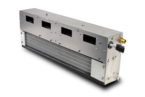 The BE-550 lightweight bulkhead evaporator from Thermo King can accommodate either right-side or left-side refrigeration and electrical connections.