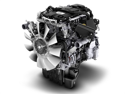 The Detroit DD5 engine features Detroit Connect, a subscription-based remote diagnostic service that transmits data to the engine supplier's customer support center. Photo courtesy Daimler Trucks North America