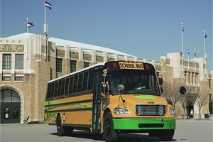 The new Saf-T-Liner C2 CNG is Thomas Built's first Type C school bus powered by compressed natural gas.