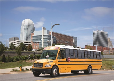 Production of Thomas Built Buses' newSaf-T-Liner C2 propane school bus is expected to begin early August 2019.