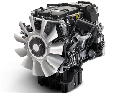 The Detroit DD8 engine is a 7.7L in-line six-cylinder medium-duty engine, specifically developed for the Saf-T-Liner HDX. It provides a horsepower range of 260 to 300 and a torque range of 660 to 860 lb.-ft.