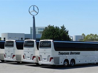 Thrasher adds setra s 417s for mercedes benz contract for Mercedes benz charter bus