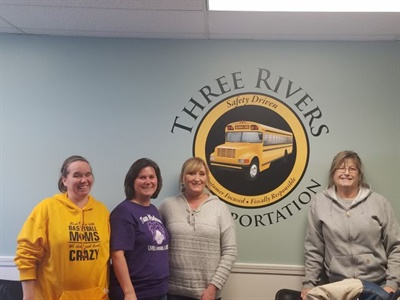 A Facebook post last year that highlighted the benefits of being a school bus driver proved to be an effective tool for Tim Wagner, a transportation director in Ohio. He was able to hire four new drivers, shown here, as a result of the post.
