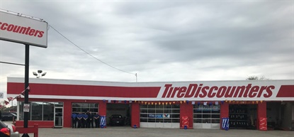 Tire Discounters has six stores under construction in Indianapolis, and is using this store, in Greenwood, as a home base and training center for all of its new employees who will fill the Indy market.