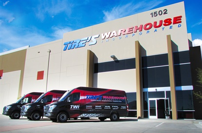 Tire's Warehouse operates more than 100 trucks providing twice-daily deliveries in California, Nevada and Arizona.