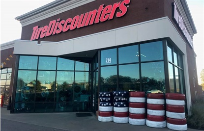 Tire Discounters stores, including this one in Smyrna, Tenn., participated in a week-long fundraising effort to support the Wounded Warrior Project.