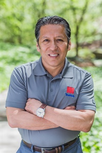 When Ned Aguilar isn't selling tires, he enjoys running and cycling.
