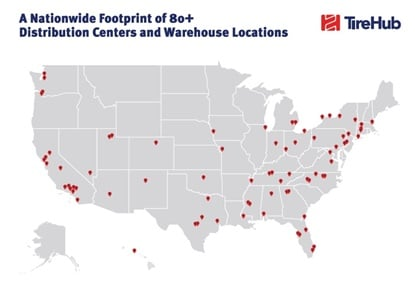 TireHub has 80+ warehouses and distribution centers in the U.S. The new joint venture will be based in Atlanta and led byan independent management team, with CEO Peter Gibbons.