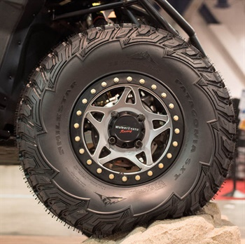 The Patagonia SXT tire is engineered for recreational off-road vehicles, such as UTVs and side-by-sides.