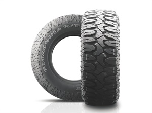 Tireco plans a total of five F-load sizes for the Patagonia M/T tire.