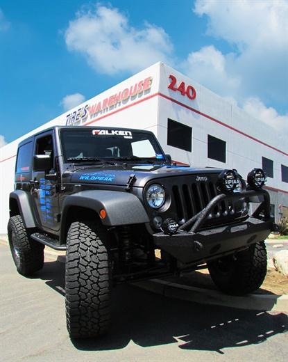The top prize in this year's Tire One dealer event is a lifted 2017 Jeep from Falken.