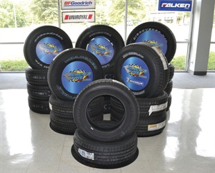 Some Black's Tire dealerships are trying a new approach to showroom tire displays, arranging the tires by application rather than brand.