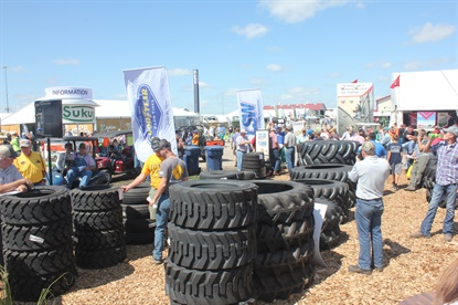 Since 1996 Titan has hosted a tire auction at the Farm Progress Show, with the proceeds benefiting the FFA.