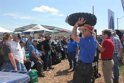 Tires of all sizes and applications are part of the Titan auction.
