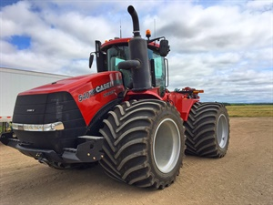 Titan says the Goodyear-branded LSW1400 is a super single VF tire designed to eliminate power hop and road lope, reduce soil compaction and improve flotation.