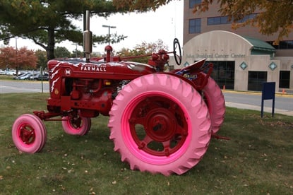 In 2016 Titan built these pink tractor tires, and they've become a fan favorite at community events.