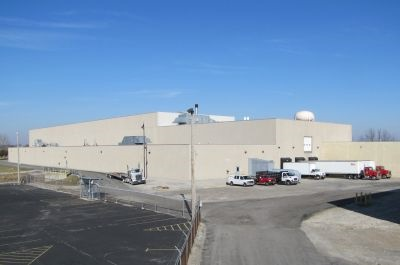 The exterior of the Titan Bus production facility is seen here.