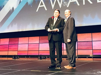 Thomas C. Lambert, president/CEO, Metropolitan Transit Authority of Harris County in Houston, Texas, received the 2018 Outstanding Public Transportation Manager Award. Photo: Houston Metro
