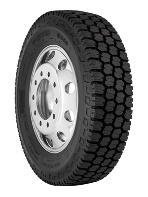 The new Toyo M655 all-weather tire will be available come April in two sizes, 225/70R19.5 14-ply and 245/70R19.5 16-ply.
