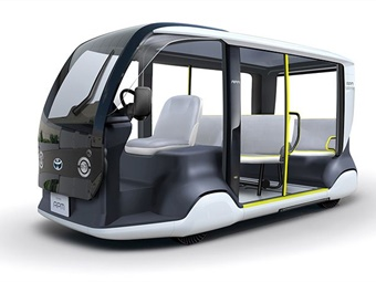Toyota's accessible people mover (APM) will help attendees with special mobility needs travel within Tokyo 2020 event venues for last-mile transportation and relief activities.
