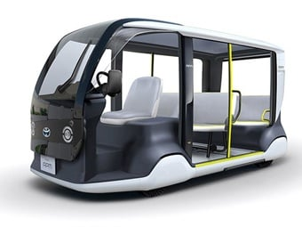 Toyota's accessible people mover (APM) will help attendees with special mobility needs travel within Tokyo 2020 event venues for last-mile transportation and relief activities. Toyota