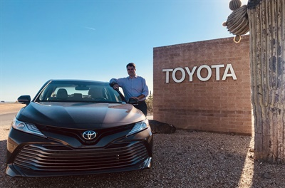"""Tires are the most important single component for vehicle dynamic performance,"" says Toyota's Mike Donick. He's spent 14 years working on vehicle dynamics for the automaker. Photo courtesy of Toyota"