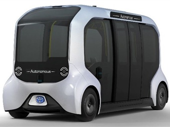 Toyota's e-Palette is the company's first battery-electric vehicle developed specifically for Autono-MaaS.Toyota