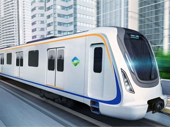 Built by the Chinese manufacturer CRRC, the Shanghai Pudong International Airport metro trainsets are 308 feet long. Photo: Keolis