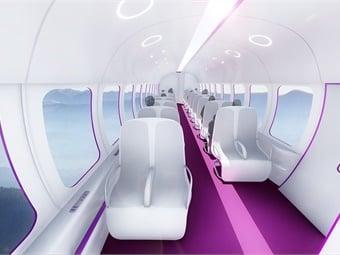 Interior rendering of TransPod hyperloop capsule.TransPod