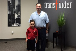 Transfinder's new Austin office is its first to be located outside New York state. Shown here is Transfinder President and CEO Antonio Civitella with his son, Alessio.