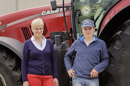 Guillaume Agneessens (right) talks about the lessened soil compaction he noticed with Trelleborg tires in the company's new series highlighting its consumers.