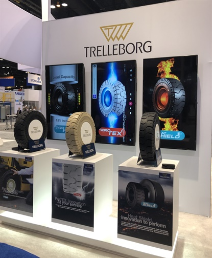 Trelleborg unveiled three new tire compounds during ProMat 2019 in Chicago.