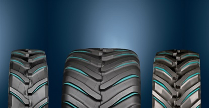 Trelleborg says the double lug treads on tires with ProgressiveTraction technology boosts capabilities up to 18%.