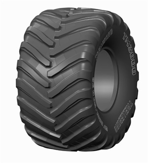 Trelleborg says the new VF1050/50R32 tire for spreader applications limits soil compaction.