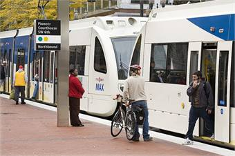TriMet MAX light rail.