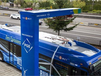 The New Flyer Xcelsior CHARGE™ zero-emission bus has been conducting some initial testing in revenue service since early March. TriMet