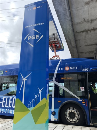 Like the agency's current hybrid buses and select MAX trains, the electric buses have regenerative braking.