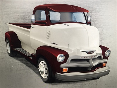 To finish off the look of this Chevrolet COE truck, big alloy wheels are wrapped with Toyo M-Line commercial tires.