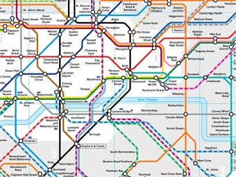 London Tube map. Transport for London