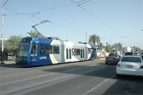 Tucson's Sun Link streetcar. Photo courtesy Terry Nash